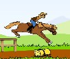 Hurdle Horse Race