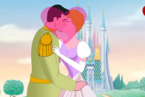 Princess Cinderella Kissing Prince